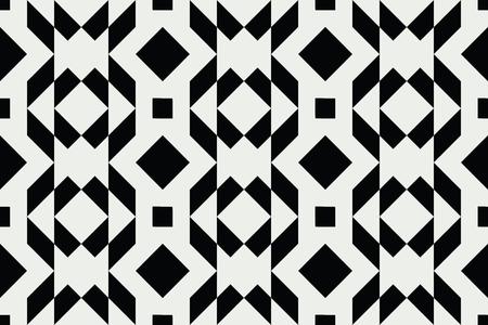 Geo seamless pattern, stylish geometric ornament, seamless fabric print, monohcrome geometric background