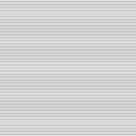 Diseño de Memphis, líneas horizontales finas, geométricas, geo, textura de eclosión, fondo abstracto, textura de impresión de pantalla, gráfico vectorial en blanco y negro Ilustración de vector