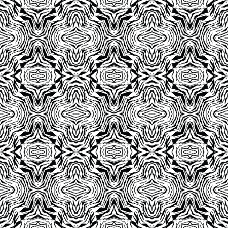 Abstract seamless background, uneven seamless pattern, boho style seamless print, fantasy seamless background, black and white vector texture 向量圖像