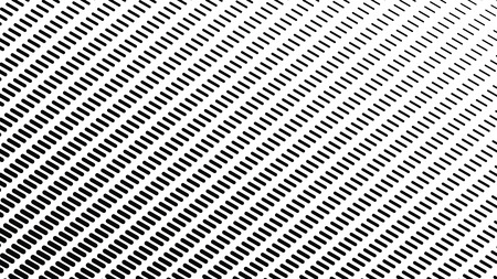 Halftone line background, texture, abstract light pattern, black stripes on  white background,  vector minimal techno background, screen print texture Ilustração