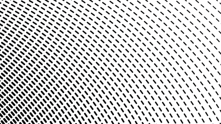 Circular, radiant patttern, halftone op art vector background, abstract vortex, black and white overlay texture, screen print texture