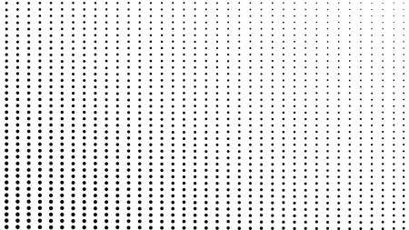 Halftone dot background, texture, abstract light pattern, black dots on  white background,  vector minimal techno background, screen print texture Ilustração
