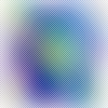 Abstract gradient blurry background with halftone dots texture, colorful vector background