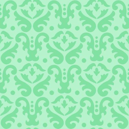 Seamless damask pattern, abstract seamless print, laser cutting pattern , screen print texture, vector illustration in green Vektoros illusztráció
