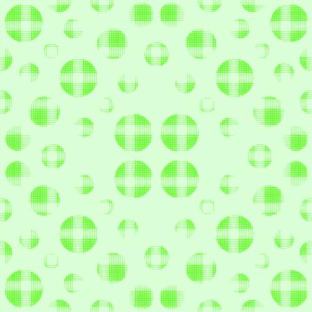 Seamless dots pattern, geo, geometric background, screen print texture, vivid green circles on a light green background, digital fabric print, seamless ornament background, vector grunge texture Векторная Иллюстрация