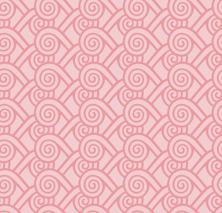 Greece vintage ethnic seamless pattern with swirl, folk abstract repeating background texture, greek key seamless fabric print