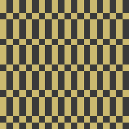 Seamless patterns with strips, bricks. Geo seamless pattern with gold and black. Useful for  fabric print, wrapping paper, scrap booking, web design