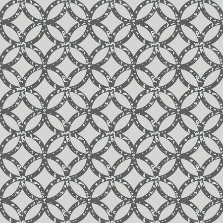 Seamless circles. Trellis pattern, grunge texture. Textured fabric print. Geometric wallpaper design. Abstract background