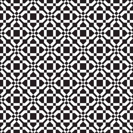 Geometric, geo, seamless pattern, oriental ornamental seamless background, black and white vector illustration.