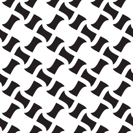Geometric seamless pattern, seamless checkered pattern, black and white geometric ornament, seamless overlay texture, vector illustration.