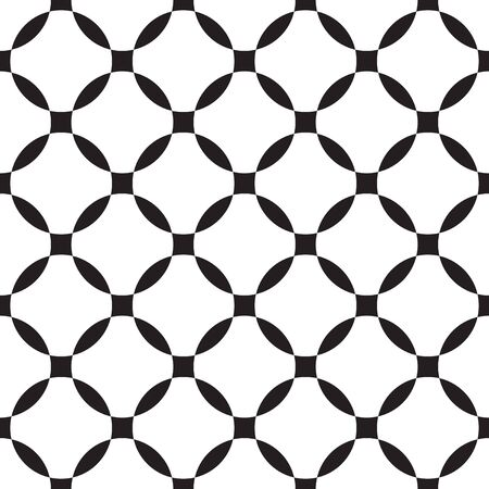 Simple geometric seamless pattern with circles. Illustration