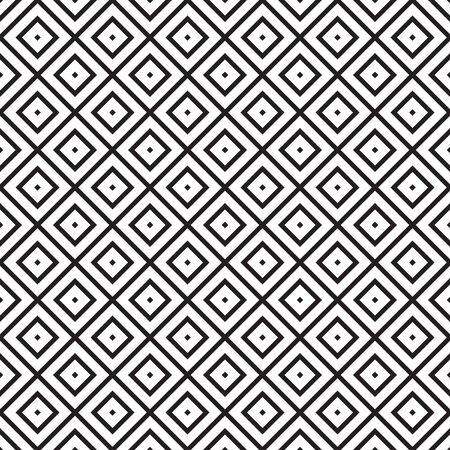 Vector seamless pattern with squares. Simple geometric patten on white background.