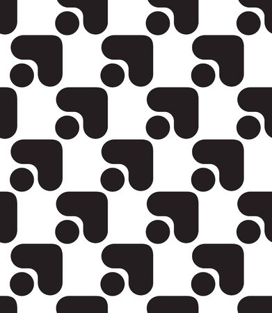 Polka dots and arrows seamless, simple seamless vector pattern. Black and white backgrounds pattern. Geometric abstract motif.