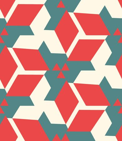Geometric seamless pattern in color, bright geometric background, colorful vector illustration. Illustration