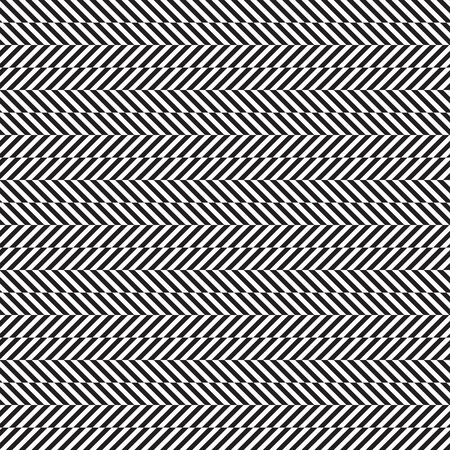 Seamless zigzag pattern, optical illusion effect, modern seamless print in black and white, vector illustration