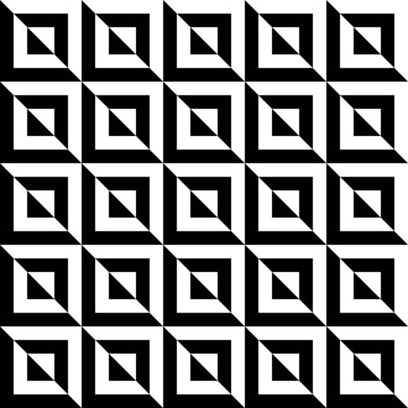 Seamless stripes, squares and triangles, seamless geometric, geo, pattern, black and white vector background