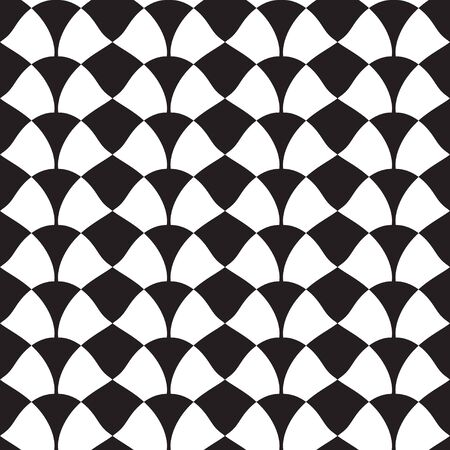 Seamless pattern, checkered fabric print, geometric, geo pattern, vector illustration in black and white