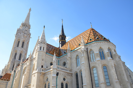 godly: St. Matthias Church in Budapest in summer day