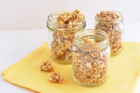 wholegrain oat granola breakfast Stock Photo