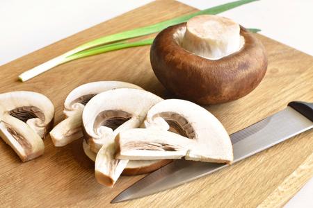 royal champignons and onions Фото со стока