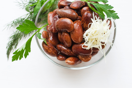 red canned beans with horse-radish