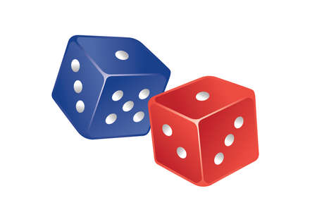 Two dice Vector Illustratie
