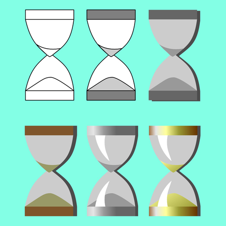 Set hourglass in different styles