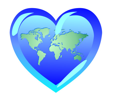 Earth In The Form Of Heart The World Is Love Symbols Of Pacifism