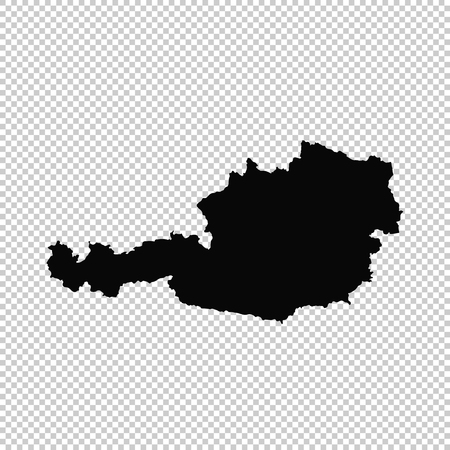 Vector map Austria. Isolated vector Illustration. Black on White background. EPS 10 Illustration.  イラスト・ベクター素材