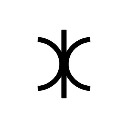 Astrology symbol Eridas. ERIS. Vector Illustration. Illustration