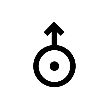 Astronomical symbol of Uranus. Vector Illustration. Illustration