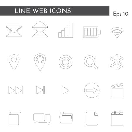 Flat web icons. Vector Illustration. Illusztráció