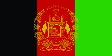 Flag of Afganistan. Vector Illustration.