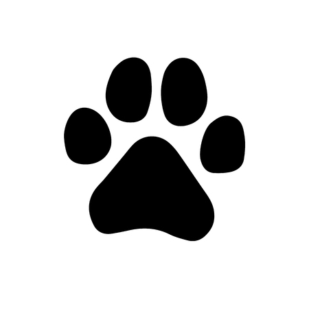 Paw Prints. Logo. Vector Illustration. Isolated vector Illustration. Black on White background. EPS Illustration. Фото со стока - 92112256