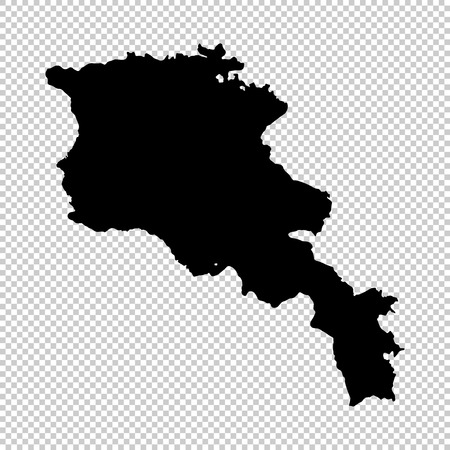 Vector map Armenia. Isolated vector Illustration. Black on White background. EPS 10 Illustration. Illustration