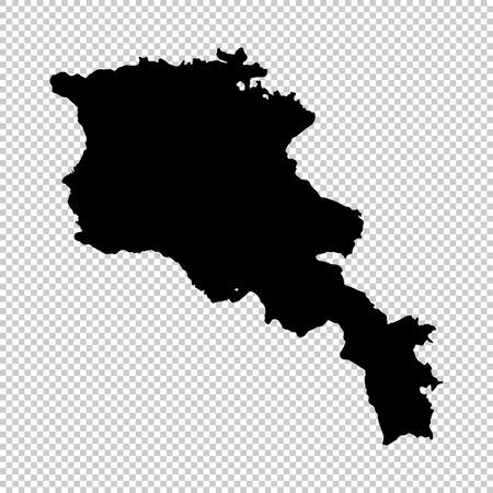 Vector map Armenia. Isolated vector Illustration. Black on White background. EPS 10 Illustration. Ilustrace