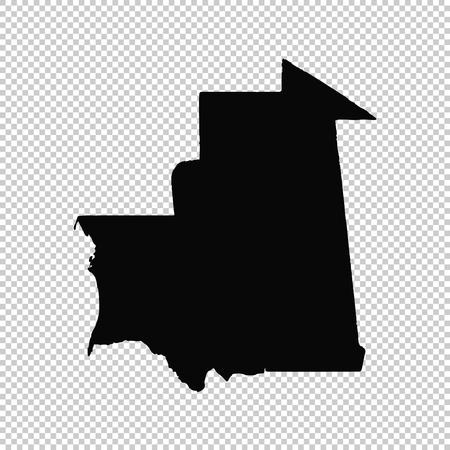 Vector map Mauritania. Isolated vector Illustration. Black on White background. EPS 10 Illustration. Illustration