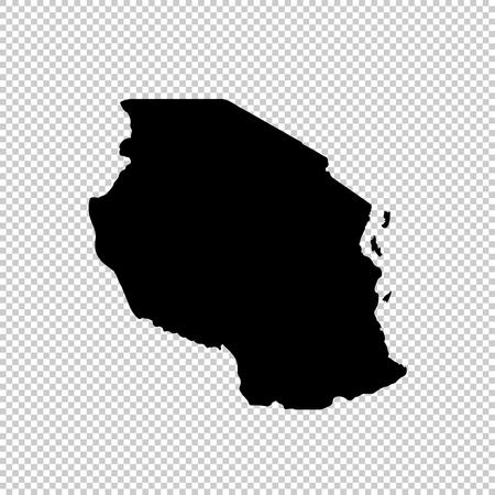 Vector map Tanzania. Isolated vector Illustration. Black on White background. EPS 10 Illustration. Illustration