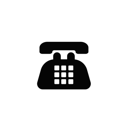 Old Telephone icon. Banque d'images - 110442683