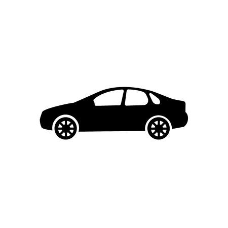 Sedan car model icon.