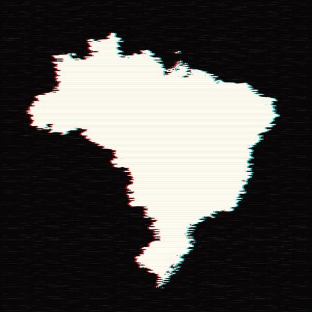 Vector map Brazil. Isolated vector Illustration. Black on White background. EPS 10 Illustration.