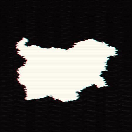 Vector map Bulgaria. Isolated vector Illustration. Black on White background. EPS 10 Illustration.