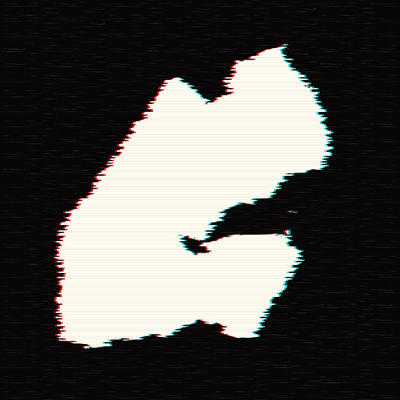 Vector map Djibouti. Isolated vector Illustration. Black on White background. EPS 10 Illustration.
