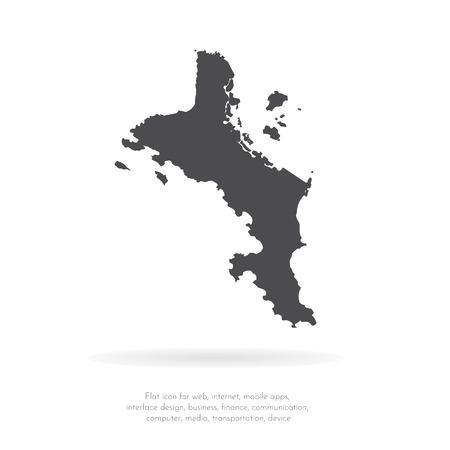 Vector map Seychelles. Isolated vector Illustration. Black on White background. EPS 10 Illustration. Ilustração