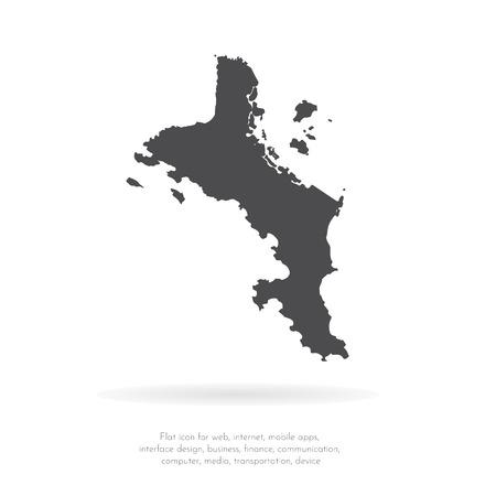 Vektorkarte Seychellen. Isolierte Vektor-Illustration. Schwarz auf weißem Hintergrund. EPS-10-Abbildung.