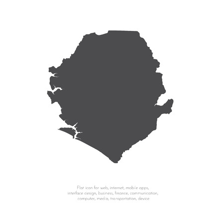 Vector map Sierra Leone. Isolated vector Illustration. Black on White background. EPS 10 Illustration. Ilustrace
