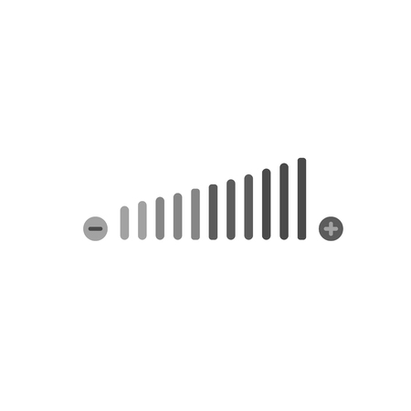 Volume adjustment icon.  For web, business, finance and communication. Vector Illustration.