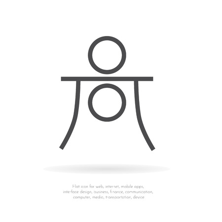 Astrology symbol Haumea. Vector Illustration.