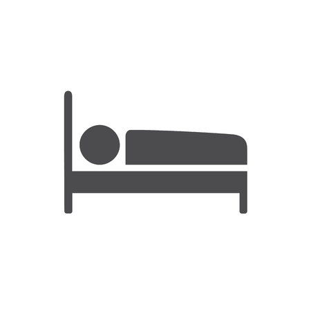 Bed icon. For web, business, finance and communication. Vector Illustration. Ilustrace