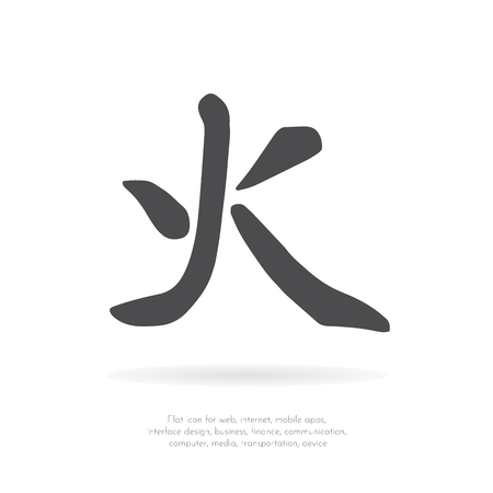 Chinese character fire.